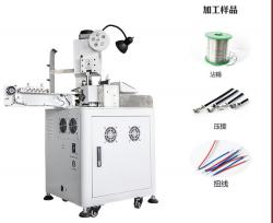 Automatic One side cable crimping and twisting tinning machine