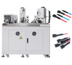 Automatic cable both sides crimping and heating shrink tube insertion machine WPM-068